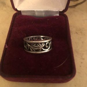 James Avery RETIRED vines band sterling silver